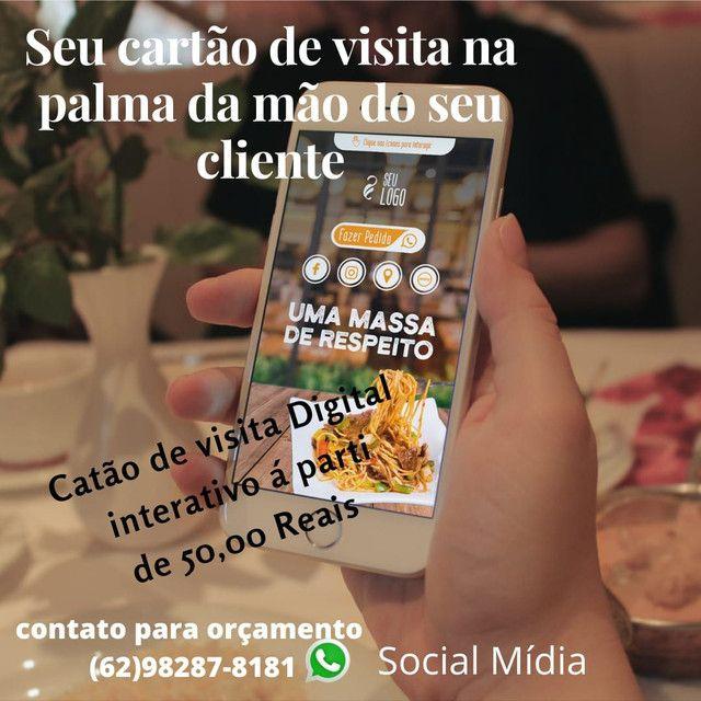 Seviço de social mídia, cartão de visitas digital, aparti de 50 reais - Foto 3