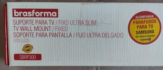 """Suporte para TV Fixo Parede de 37"""" a 70"""" Preto Brasforma<br><br> - Foto 2"""