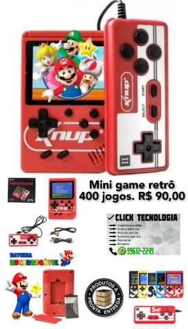 Mini game retrô 400 jogos