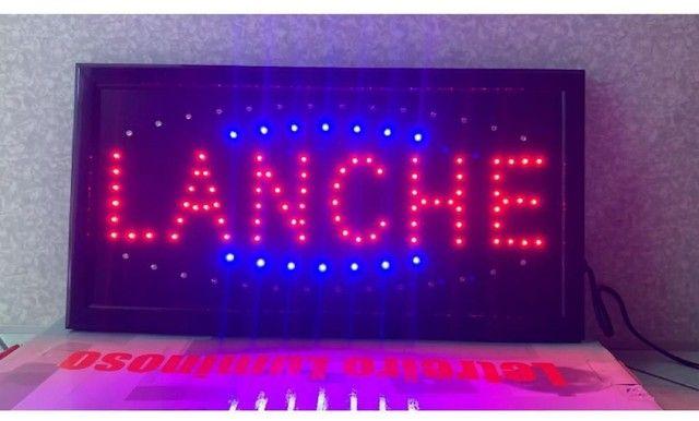 Painel luminoso de Led Lanche