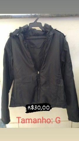 Jaqueta preta de lona - Foto 2