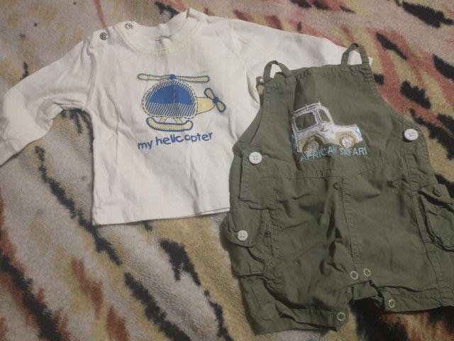 Lote roupas bebê menino 0a3 meses  - Foto 3