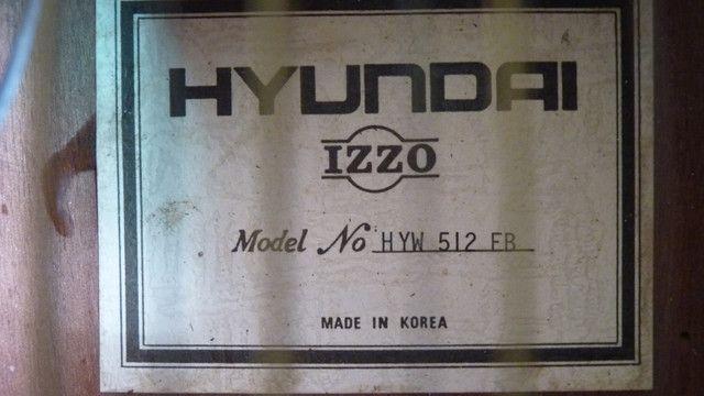Violão eletroacústico vintage 12 cordas - Hyundai IZZO - Raridade - p/ colecionador! - Foto 2