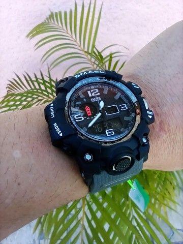 Relógio militar SMAEL (50M) Original - Cinza - Foto 2