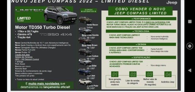 Novo Jeep Compass Limited Turbo Diesel 2022 para PCD, PJ ou produtor Rural - Foto 2