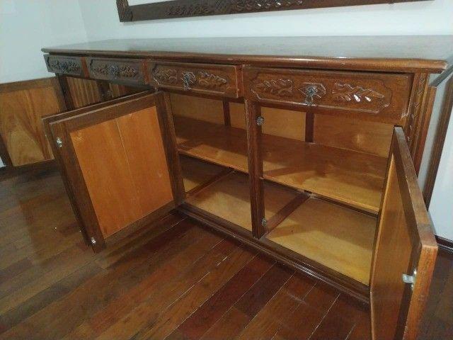 Buffet aparador em Madeira Entalhada (Estilo Colonial)-Piracicaba, SP