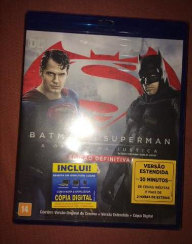 Batman vs Superman Bluray lacrado (novo) + Cortesia