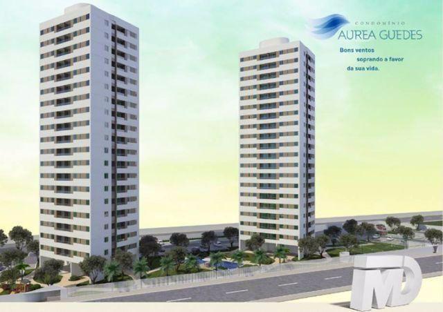 Condomínio Aurea Guedes em Ponta Negra - Ap 53m², 2 quartos (1 suíte)