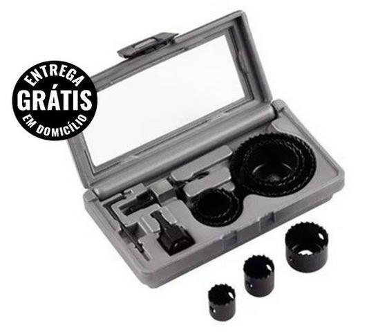 Kit de serras copo 11 peças profissional - entrega grátis