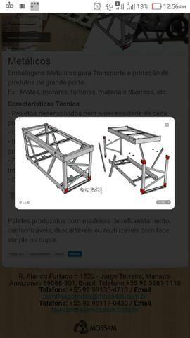 Estrutura/gaiola para transporte de moto
