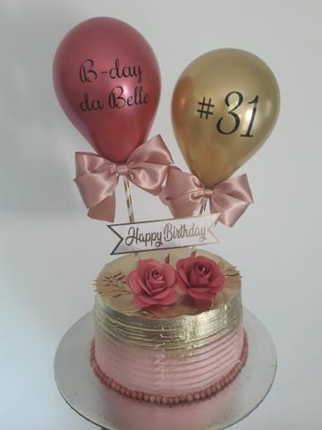 Topo de bolo balão (cake balloon) - Foto 4