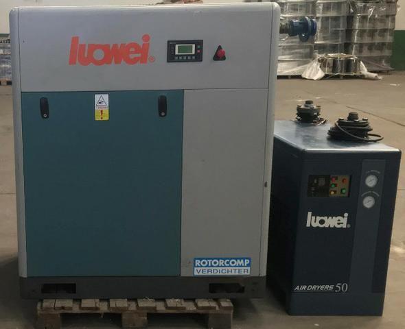 Compressor parafuso - LW 50hp + secador Novissimo ? apenas 10.000 horas de uso