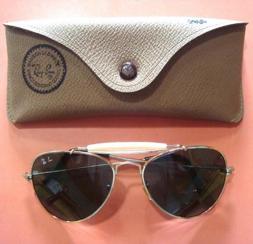 Óculos Ray Ban Bausch Lomb 14k Aviador Vintage Com Estojo ... d51b22c55f