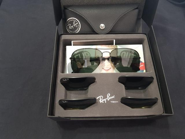 Ray Ban Aviador Top Tech Flip Out Rb3460 + 3 Lentes + Cx Original + Estojo bd982f7efb