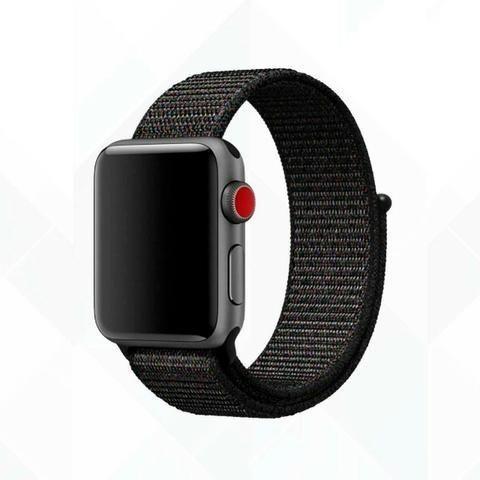 Pulseira Esporte Nylon Apple Watch 38/42mm + Pelicula 5d - Foto 3