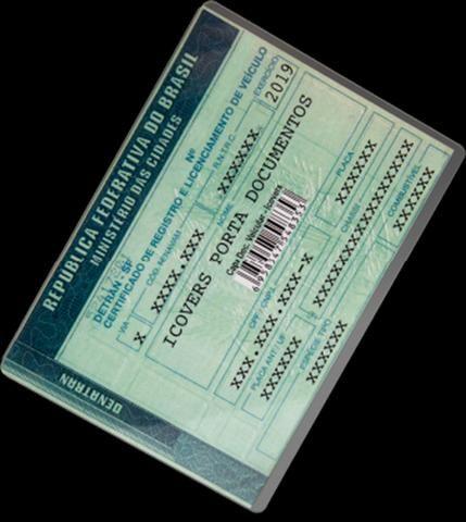 Porta CRLV, Documento, Certificado de registro e Licenciamento de Veiculo em Acrílico