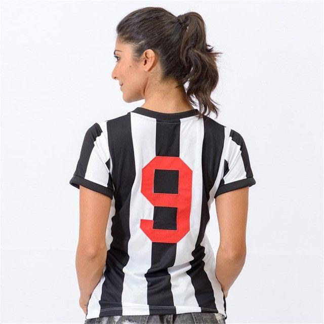 Camisa Oficial Atlético Mineiro Reinaldo Babylook Feminino (Tam. P-M-G) em Uberaba, MG - Foto 2