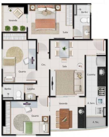 Apartamento com 3 quartos para alugar, 82 m² por R$ 1.550/mês - Praia de Itaparica - Vila  - Foto 20