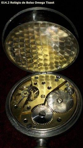 Relógio de Bolso Antigo Omega Tissot - Foto 3