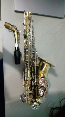 SAX Alto saxofone alto opus lindo sapatilhamento novo