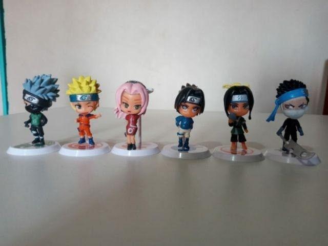6 pçs/Conjunto Figuras de Ação Versão Q Naruto - Foto 6