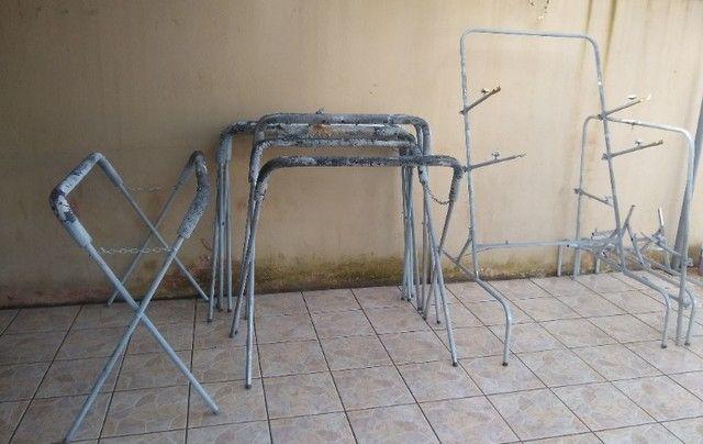 Cavaletes para preparação e pintura