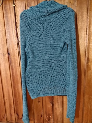 736 - Blusa de lã verde feminina - Tam M - Foto 2