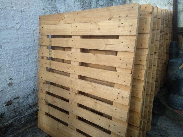 Pallets reforçados usados em pinus Palets Paletes - Foto 4
