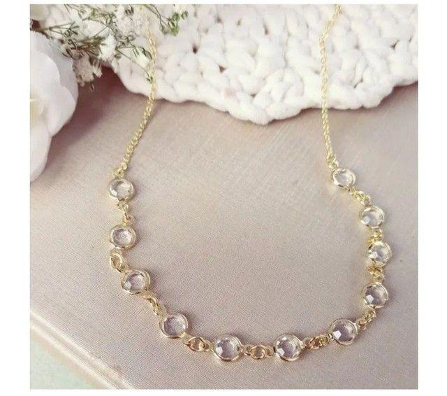 Chocker + colar dourado ( Novo ) - Foto 2
