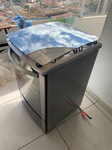 Fogão 4 Bocas (uma boca chama dupla) Electrolux Inox Automático com Grill e Timer - Foto 4