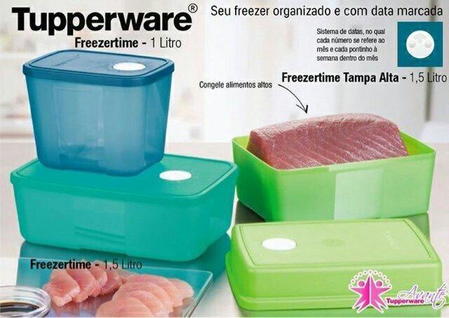 Vendo 6 Peças Frizeertime Verde Tuppeware