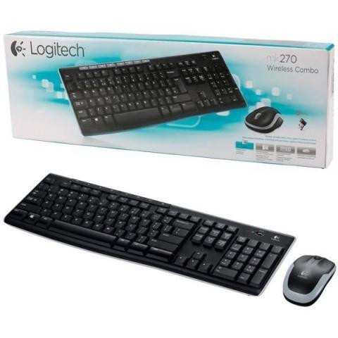 2 em 1 - Combo Teclado e Mouse Logitech Sem Fio MK270 + Mousepad Gamer VX Vinik Dragon