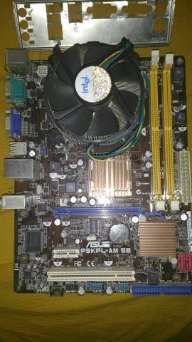 Placa mae asus ddr2 intel sockt 775 processador Pentium 3.0