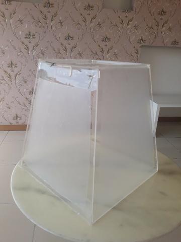 Acrilico, urnas, placas, display de mesa e parede, bolsas A4. A5, brindes criativos - Foto 5