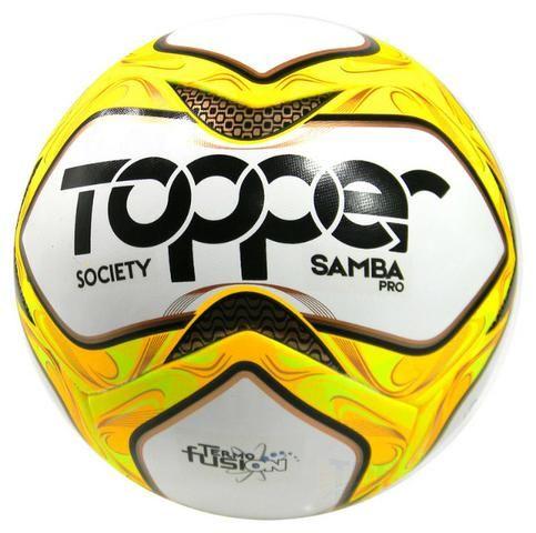 f6b97d2cdd Bola topper Society Samba PRO amr pto bco - Esportes e ginástica ...