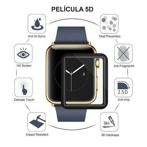 Pulseira Apple Watch Couro Luxo 38/42mm Series + Pelicula 5d - Foto 2
