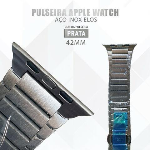 Pulseira Para Relógio Apple Watch De Elos 42mm Aço Inox - Foto 2
