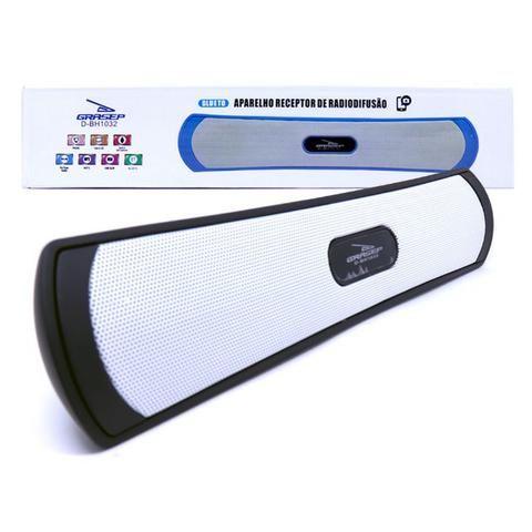 Caixa de Som Amplificada Portátil Bluetooth D-BH1032 Grasep Rádio Fm Pen Drive Mp3 - Foto 3