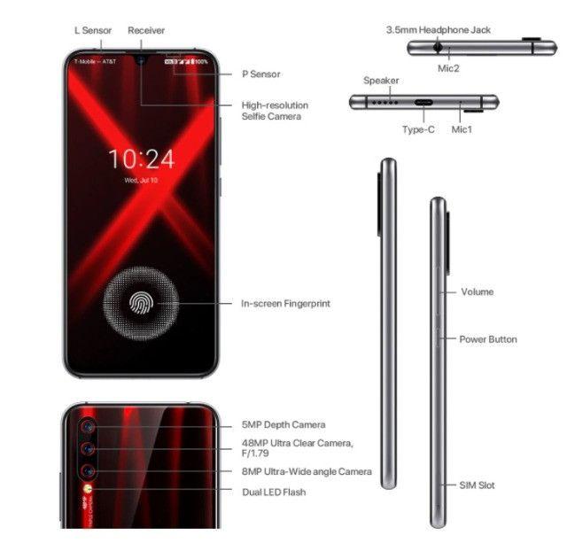 Smartphone Umidigi X Dual Sim 128 Gb Flame Black 4 Gb Ram - Foto 3