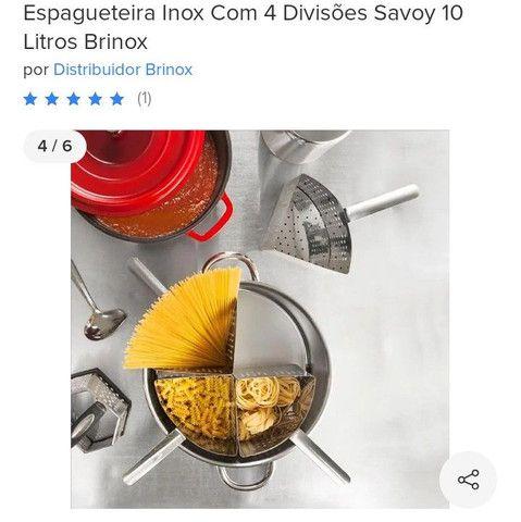 Espagueteira Inox com 4 divisões 10 litros - Foto 4