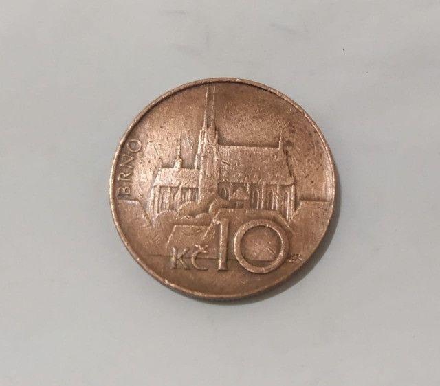 Moeda 10 Coroas 1994 República Checa - Foto 2