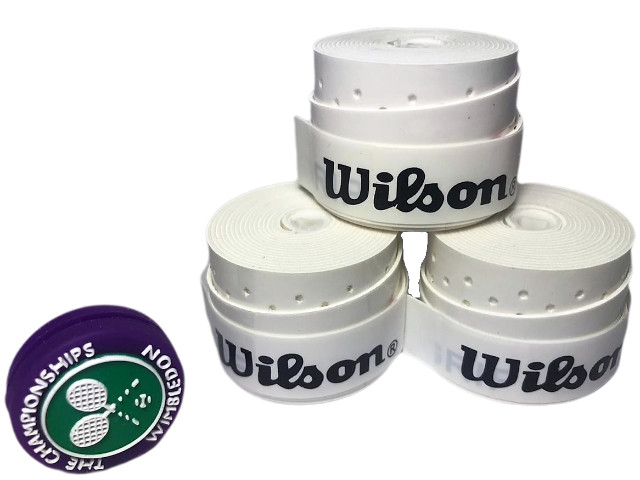 Over Grip Wilson Profile Perforated 2020 - 10 Unidades - Branco - Foto 5