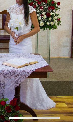 Vestido de noiva renda - Foto 6
