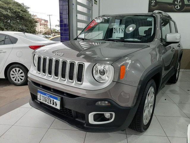 Jeep renegade limited automática 6 marchas único dono garantia banco couro multimídia - Foto 6