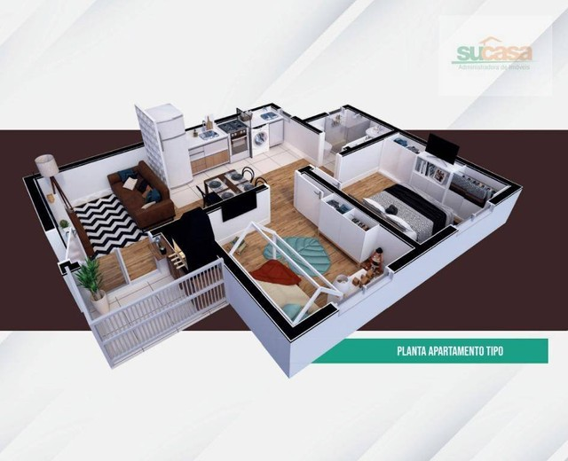 Apartamento com 2 dormitórios à venda, 45 m² por R$ 123.990,00 - Centro - Pelotas/RS - Foto 4