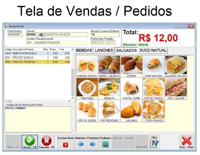 Sistema de Gestão/Caixa/Estoque/Financeiro para Lanchonetes, Cantinas, Pizzarias e afins - Foto 2