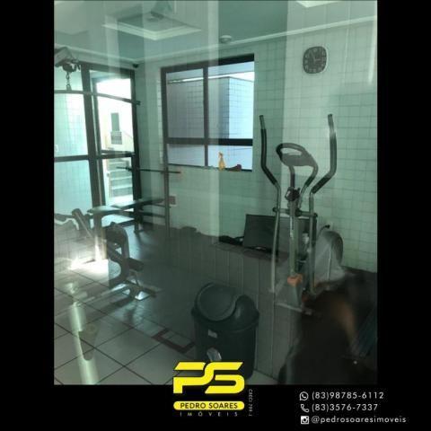Apartamento com 2 dormitórios para alugar, 56 m² por R$ 1.700/mês - Tambaú - João Pessoa/P - Foto 6