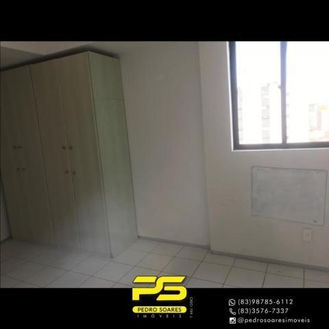 Apartamento com 2 dormitórios para alugar, 56 m² por R$ 1.700/mês - Tambaú - João Pessoa/P - Foto 8