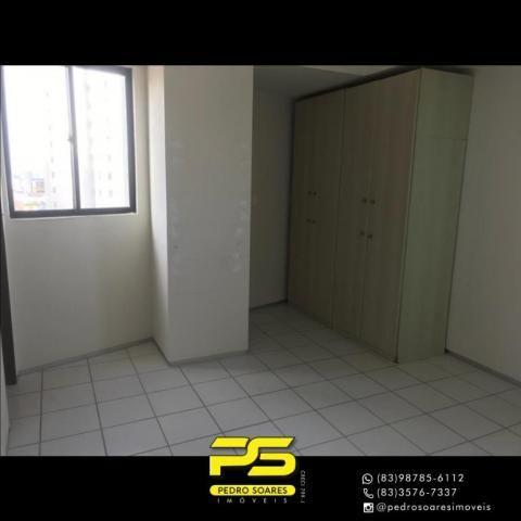 Apartamento com 2 dormitórios para alugar, 56 m² por R$ 1.700/mês - Tambaú - João Pessoa/P - Foto 9