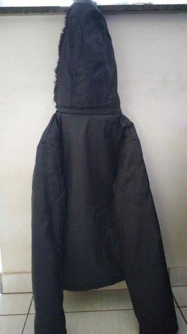 Jaqueta preta de lona - Foto 3